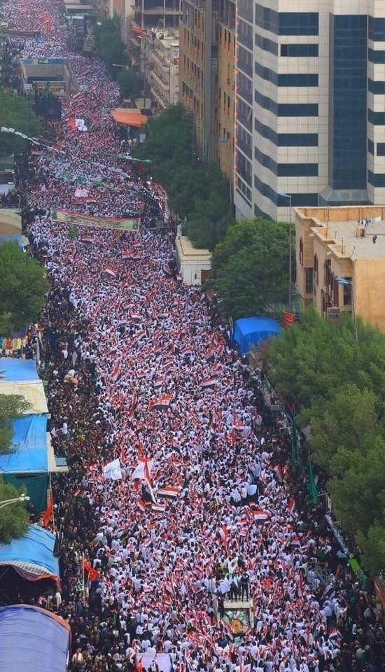 حضور میلیون ها عراقی در تظاهرات علیه آمریکا