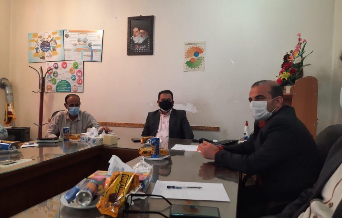 نشست سرپرست بهداشت و درمان شهرستان باغملک با خبرنگاران و مدیران پایگاه های باغملک